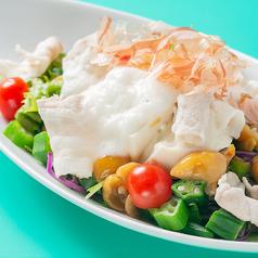 豚しゃぶと豆腐のネバネバサラダ
