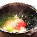 料理メニュー写真明太茶漬け/梅茶漬け