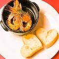 料理メニュー写真有頭海老のアヒージョ