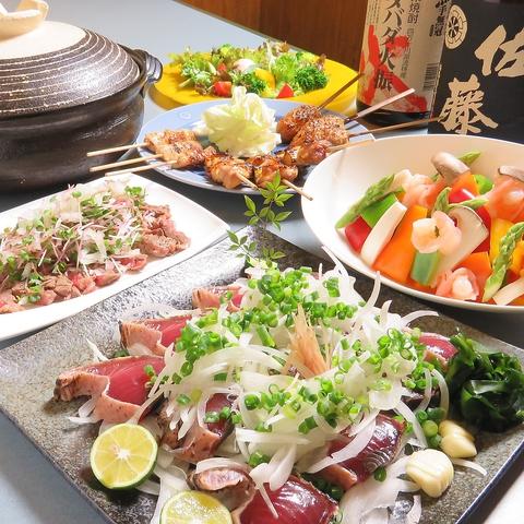 【炙り屋NANASI】人気コースは2.5時間飲放4500円、2.5時間&串盛り付5000円!
