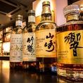 山崎12年はもちろん竹鶴、余市等日本全国のウイスキーをご用意しております!!