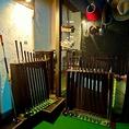 【ゴルフクラブ】ゴルフクラブはもちろん、シューズ、グローブ、帽子まですべて無料でご利用可。