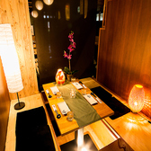 新宿での団体様の宴会も安心の宴会個室♪テーブルタイプの広々とした個室空間は人数様に合わせて、最大100名様までご案内可能となっております。新宿での歓迎会や送別会、同窓会など団体様の宴会に最適なゆったり寛ぎの個室空間となっております♪団体様の宴会に最適な幹事様特典などお得な宴会特典もご用意♪