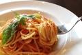 料理メニュー写真明石蛸と玉葱のスパゲッティ