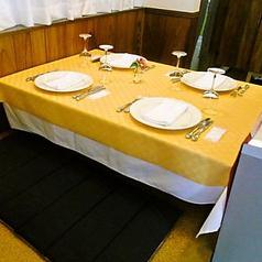 お座敷席あり◎ご家族連れにもぴったりのお席です。4名様席×1