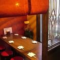◆半個室あり◆人気の半個室席は6名様からご利用いただけます。周りを気にせずにゆっくりとお食事をお楽しみ頂けます☆