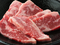 料理メニュー写真ねぎ塩カルビ/牛太カルビ/国産牛上カルビ