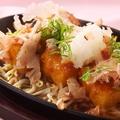 料理メニュー写真豆腐の鉄ぱんステーキおろし醤油/海老とチーズのパリパリ包み焼