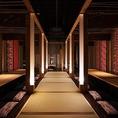【岡山駅個室居酒屋】歓送迎会や結婚式の二次会などでご利用◎着席時50名様、立席でのご利用もご相談ください。※画像は系列店イメージ