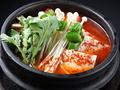 料理メニュー写真純豆腐チゲ/テンジャンチゲ/キムチ豆腐チゲ