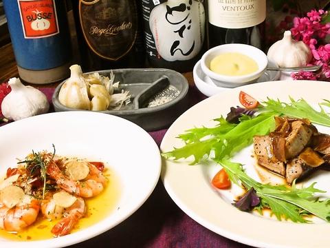 スタミナ満点!島の食材と青森産のにんにくを使った料理が楽しめる♪