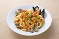 料理メニュー写真イタリア産カラスミと魚介のペペロンチーノスパゲティ レギュラー