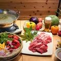 料理メニュー写真牛・豚のしゃぶしゃぶ(オプションメニュー)