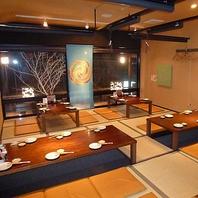 会社宴会・接待は最大30名まで個室でのご案内可能!