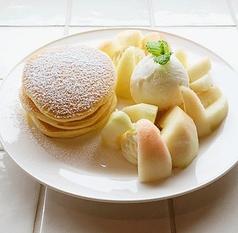 ■桃パンケーキ