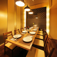 周りを気にしないプライベート空間でいつもと違った宴会を…心置きなくゆったり寛げる空間で贅沢な旬の食材を使用した逸品を豊富に使用したコース料理をご堪能ください。