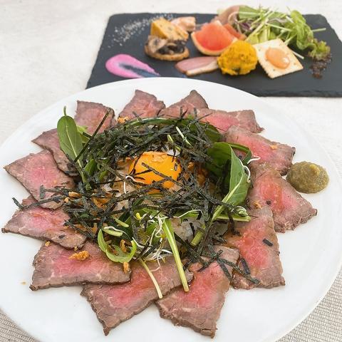 泉佐野のブランド豚「犬鳴豚」をはじめ、地元食材にこだわったメニュー♪