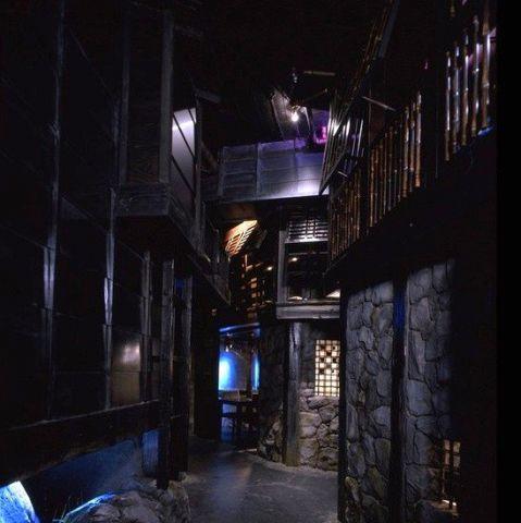 NINJA AKASAKAの扉を開くと、そこには世界的に有名なデザイナーが手掛けた忍者屋敷が広がります!お客様には忍者の忍者道を通り、修行を体験をしていただきながらお部屋にご案内いたします!