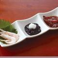 料理メニュー写真富山の珍味3種盛り