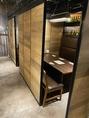 人気の半個室は周りの目を気にせずお食事をお楽しみいただけます。また開放感のある造りとなっておりますので安心してご利用ください♪