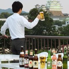 系列店では姫路城独占の屋上ビアガーデンも!