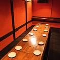間をふすまで仕切れば、6名個室もOK10名様である程度余裕をもってお座り頂けます。最大16名様卓番号2~3
