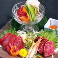 会津名産!馬刺し・馬肉のユッケ・馬肉のタタキ安心・安全・新鮮な生産者直行品!他店ではなかなか味わえないその食感と旨さをご堪能ください!