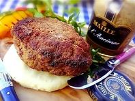 熟成牛のハンバーグ*オニオンフォンドヴォーソース