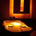 【2~4名様用テーブル半個室】木の素材を生かした優しい雰囲気のテーブル席はデートのご利用に大人気です。