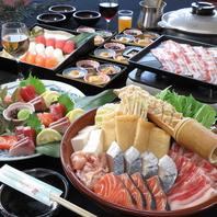 具だくさん鍋と旬魚介をたっぷりと堪能『豪華鍋コース』