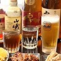 クラフトビールや日本酒など様々なお酒を楽しめます♪