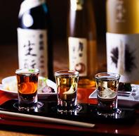 こだわりの種類豊富な日本酒の数々!