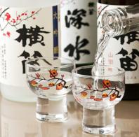 ワインだけではない!日本酒や焼酎も数多くご用意あり◎