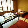 【1階お座敷半個室】和室でゆっくりと寛ぎのひと時を。5~8名様での利用に。