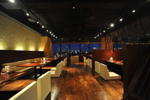 ☆水戸の夜景を望めるビル8Fの展望彩食ダイニング、炉蓮~lohasu~
