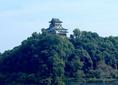 木曽川を挟んで山の上にある国宝犬山城が眺めながらお食事ができる。お店から犬山城へは、徒歩5分とすぐ。