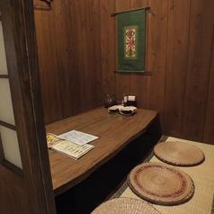 4名様個室です。家族とのお食事会などに便利です。