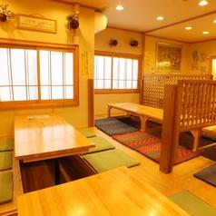 座敷は広めにご用意しているので、ゆっくりとお食事をお楽しみいただけます!立地は、駅近でアクセスも良好なので、会社宴会などの大人数の宴会にもとっても便利♪