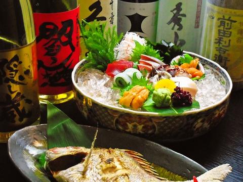 新鮮な魚介類を楽しめるお店。店内には生け簀もあり、いつでも美味しい鮮魚があり!