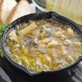 料理メニュー写真赤城鶏テリマヨステーキ/エビとキノコのアッヒージョ