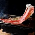料理メニュー写真和牛すき焼き肉~卵につけて