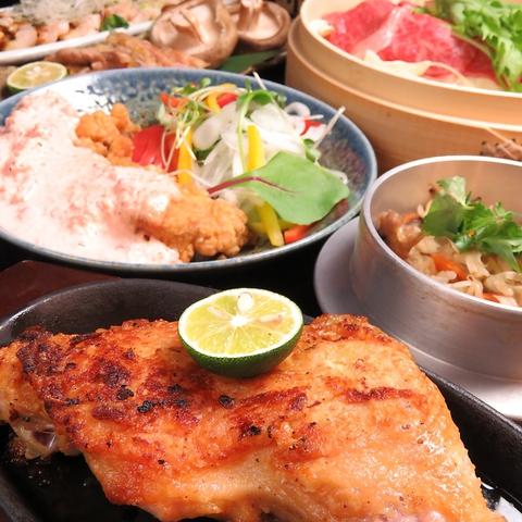 徳島の旨いもんが味わえる店!名物 一鴻の骨付き阿波尾鶏を宴会でお楽しみ下さい!