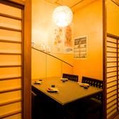 完全個室は全9タイプ御座います。繋げたり区切ったりする事で様々なニーズにお応えできます。何名様でも完全個室でお寛ぎ下さい。