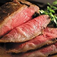 国産の牛肉を熟成させた特製のローストビーフ♪