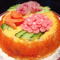 誕生日・記念日に寿司ケーキでお祝い★☆★
