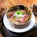 料理メニュー写真合鴨の藁燻し焼き