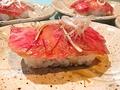 料理メニュー写真特選和牛ロースの炙り寿司