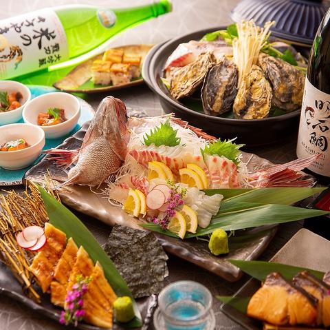 明石の魚、天ぷら、浜焼きが自慢のお店です!ビール地域最安価格!!