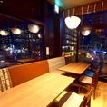こちらのテーブル席は最大15名様程度まで一区画でお座りになれます。周りと区切られた空間なので快適ですよ♪名古屋名物と三陸産魚介類が美味しいお店が豊田市駅にOPEN!!女子会コースも人気です♪豊田で幹事様必見の居酒屋です♪