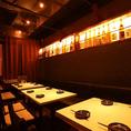 【岡山駅個室居酒屋】お勤め先の方とのご宴会,女子会,親しいご友人との集まりに最適です。※画像は系列店イメージ